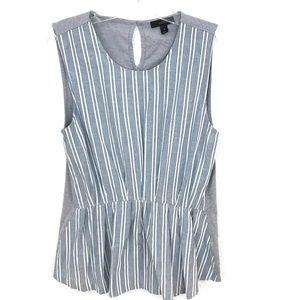 J. Crew striped peplum tank sleeveless top blouse